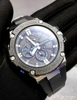 * FREE DELIVERY * Brand New 100% Authentic Casio GShock GSteel Carbon Fibre Bezel & Strap Bluetooth Mens Casual Watch GST-B100XA-1ADR GSTB100XA