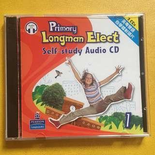 包郵費 Primary Longman Elect 1A 1B Self study audio CD 英粵雙語自學鐳射唱片