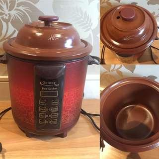 Galaxy Tiger 3.8 Litre Purple Clay Slow Cooker
