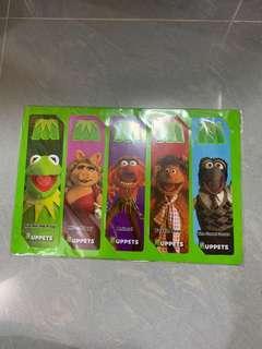 Muppets 萬千星輝布公仔 電影紀念品 書簽