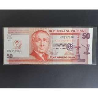 P50 NDS banknote with Pedro Calungsod overprint