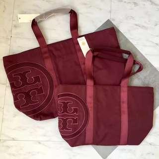 ON HAND: Authentic Tory Burch Nylon Shopper Tote Bag