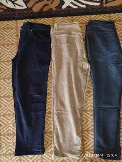 3 celana lanjang size 35