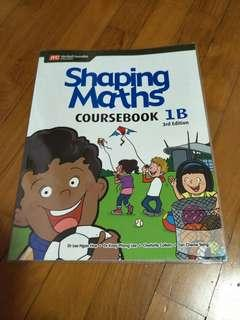 P1 Textbooks brand new shaping maths primary 1 1B 3rd edition , marshall Cavendish,  Nothing written on page except name on page 1, book is wrapped.