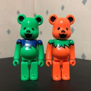 Bearbrick 100% Dancing Bear Set 跳舞熊 Bear Be@rbrick Toy Figure Art Trendy Brand Design Rabbrick R@bbrick Nyabrick Ny@brick 模型 擺設 收藏品 名牌 潮流 玩具 禮物 生日禮物