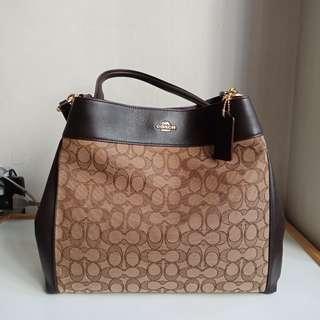 Coach Lexy Shoulder Bag, Khaki/Brown