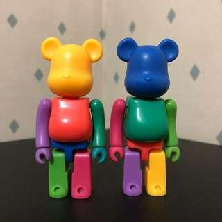 Bearbrick 100% 彩虹 Rainbow Set Bear Be@rbrick Toy Figure Art Trendy Brand Design Rabbrick R@bbrick Nyabrick Ny@brick 模型 擺設 收藏品 名牌 潮流 玩具 禮物 生日禮物