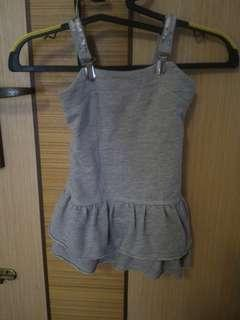 Pre Loved fox girl grey fashion christmas new year wear female dress
