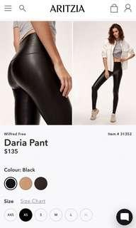 Aritzia Daria Pant - XS - Leather and Suede