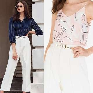 BNWT The Closet Lover TCL Reisan Pants in White