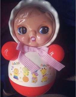 復古 不倒翁 kewpie 寶寶玩具