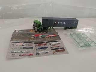 [散裝]全新超級精細版 已絕版tomytec 1:150 n gague 第一彈五十菱貨櫃車 isuzu mol trailer