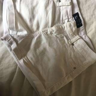 JAYJAY's white low rise shorts