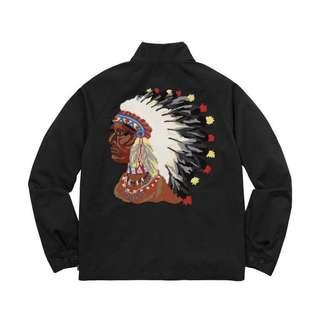 🚚 Supreme Indian Harrington jacket 印地安人 羽毛 頭像 外套