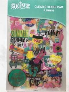 Clear Scrapbook Stickers Pad <Summer>