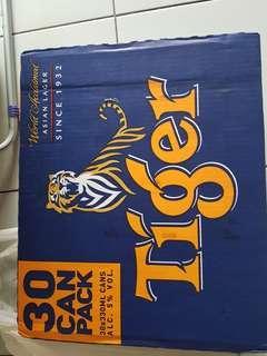 Tiger beer 30 cans pack
