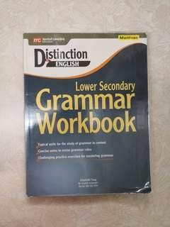 BRAND NEW distinction in English lower sec grammar workbook