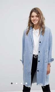 Levi's Raw Hem long Blazer / Jacket