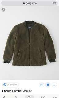 Abercrombie Sherpa Teddy Bomber jacket