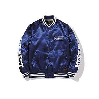 🚚 Neighborhood :B.B./EJKT 藍色 刺繡棒球外套