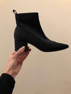 ASOS neoprene pointy sock boots