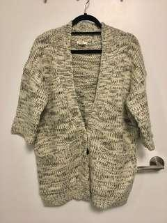 Club Monaco oversized wool cardigan - XS