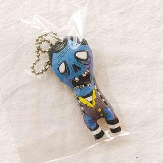 🚚 BNIB Zombie Illustrated Plush Key Ring Key Chain