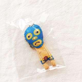 🚚 BNIB Sad Wrestler Boxer Illustrated Plush Key Ring Key Chain