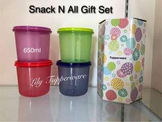 Tupperware Snack N All Set 650ml (4pcs)