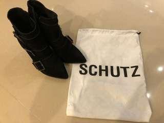 SCHUTZ黑色短靴,9.5新加鞋墊了,穿起來超美