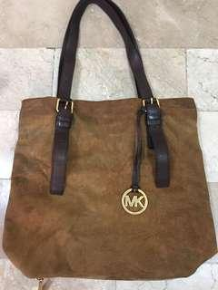 Michael Kors Distressed Leather Bag