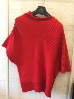 Red Knitted Top free size