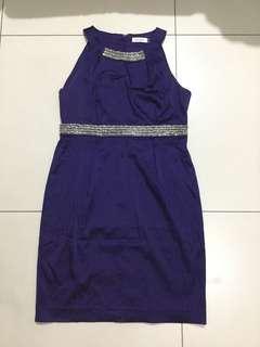 Calvin Klein Violet Formal Dress