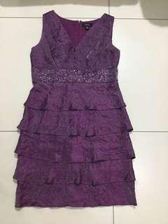 Violet ruffled dress