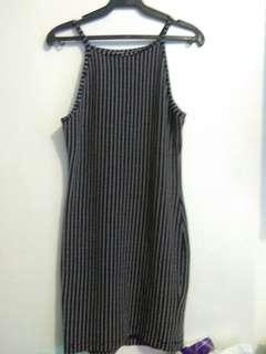 Paper Scissors Bodycon Black Dress