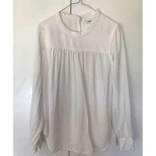 COUNTRY ROAD [SZ S] Longsleeved Silk top - Antique white