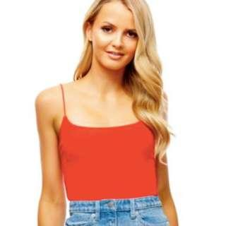 Kookai Red Easy Cami Singlet Top Size 2