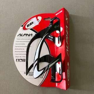 Sale: Ravx Carbon Fibre bottle cage Alpha X - gloss red stripe colour