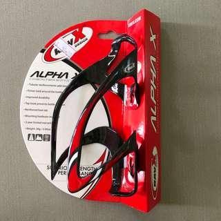 Sale: Ravx Carbon Fibre bottle cage Alpha X - gloss white stripe