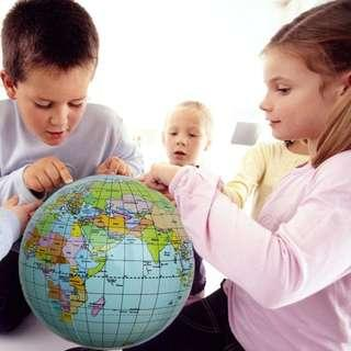 Educational and Fun Inflatable Globe Beach Ball World Map Pool Party