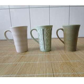 仿古日式高杯 手拉胚陶瓷 (3個1起賣)