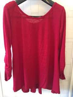 Red Blouse free size