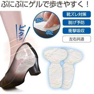 日本後腳跟舒適鞋墊($48/1對)(護足系列-型號005)貼防掉跟腳後跟防磨貼腳貼鞋跟貼後跟墊鞋貼半碼後跟