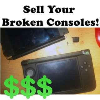 Sell Your Broken Consoles - Looking for faulty PS4/3DS/Vita/Switch/2DS/Joy-Con