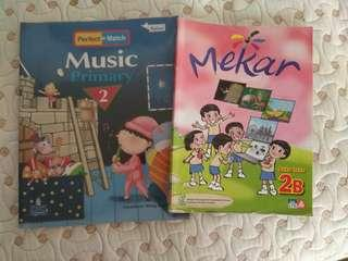 Preloved Music and Malay 2B Primary 2