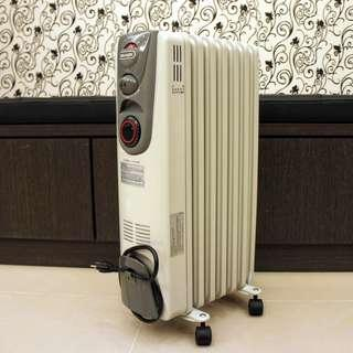 二手葉片式電暖器 迪朗奇七葉片式油壓電暖爐( MG15T ) 門市更衣室專用,極新少用