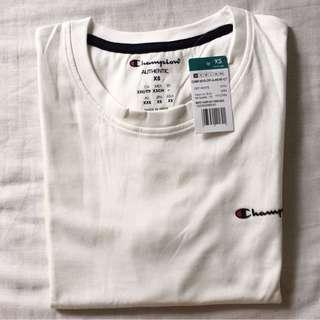 Authentic Champion White Small Scripted Shirt #POST1111