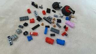 Loose LEGO pieces