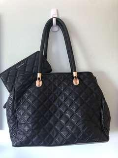Cole Haan Black Leather Bag with Wallet