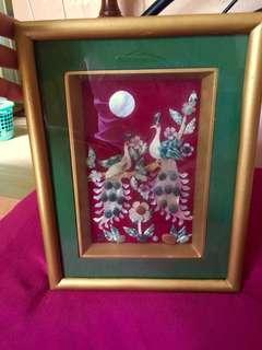 Jades n gemstones peacock frame